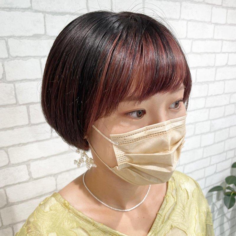 #前髪インナーカラー◎