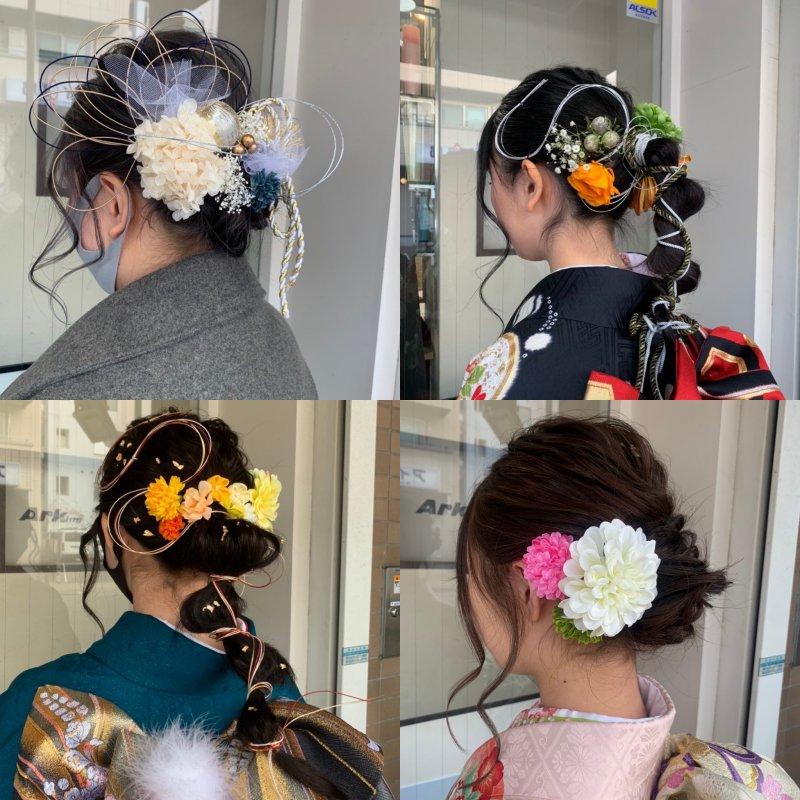 ★卒業式の袴の着付とヘアセットのお支度★
