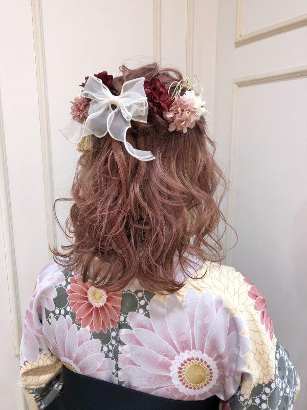 yuuka☆袴着付け ハーフアップ