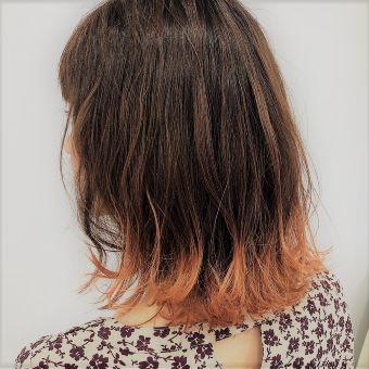デザインカラーや低ダメージカラー、明るめの白髪染めなど幅広く対応できます☆